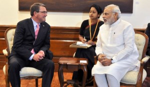 File picture of Prime Minister Narendra Modi with US Defence Secretary Ashton Carter. Credit: PTI