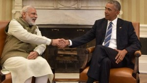 File picture of Prime Minister Narendra Modi and President Obama in the White House in June. Credit : PTI